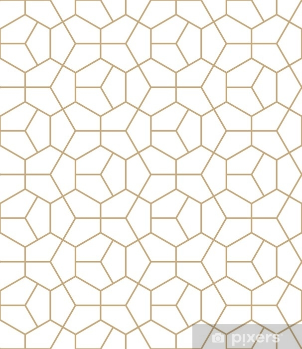 Abstract geometry gold deco art hexagon pattern Window & Glass Sticker - Graphic Resources