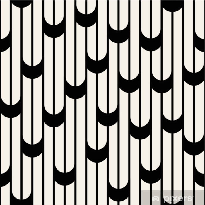 Abstract geometric black and white minimal graphic design lines pattern Pixerstick Sticker - Graphic Resources