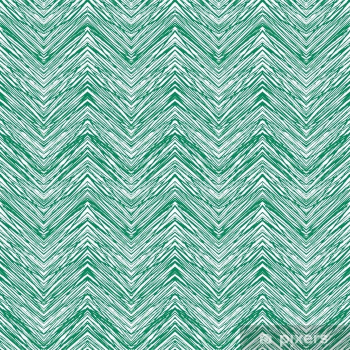Emerald green hand drawn vector zigzag pattern Vinyl Wall Mural - Graphic Resources