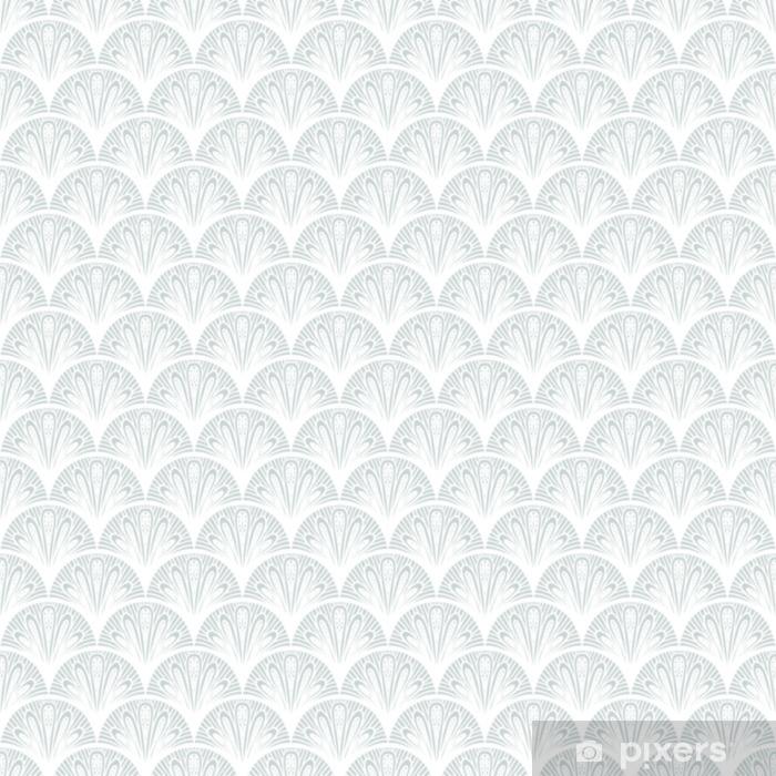 Lack-bord finér Art deco vektor geometrisk mønster i sølv hvitt. - Grafiske Ressurser