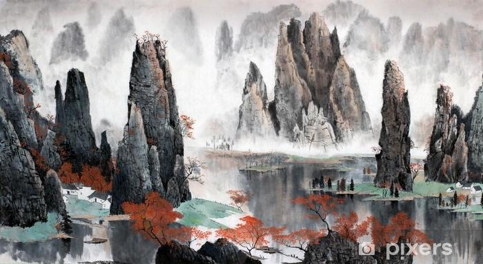 Fototapeta samoprzylepna Chiński krajobraz gór i wody - Krajobrazy