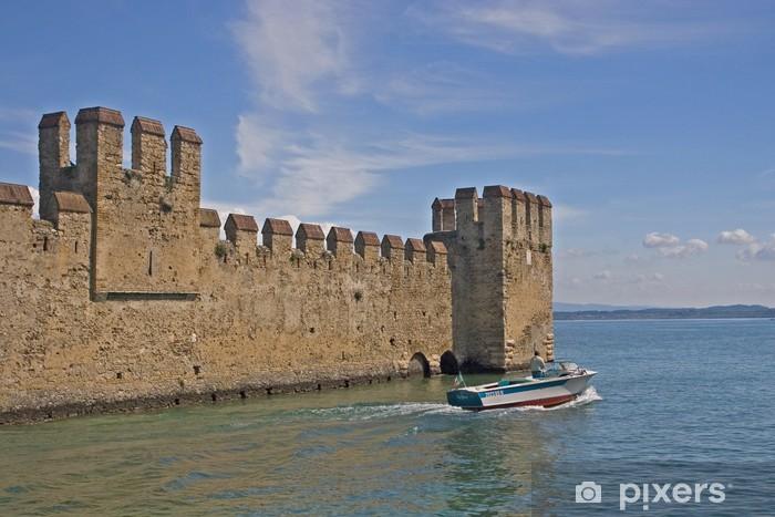 Carta da Parati in Vinile Scaligerfestung am Gardasee - Europa