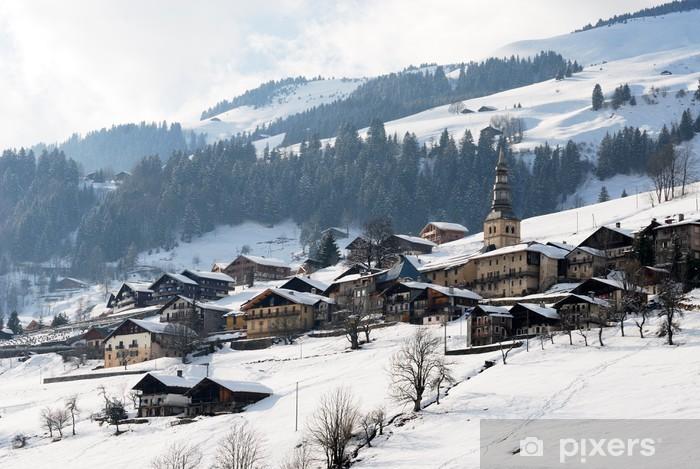 Papier peint vinyle Village de montagne - Vacances