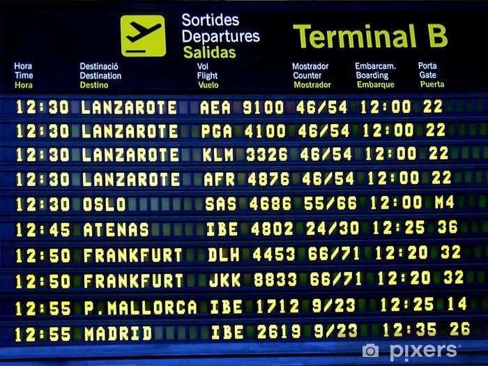 Sticker Pixerstick Panneau d'affichage à l'aéroport 2 - Vacances