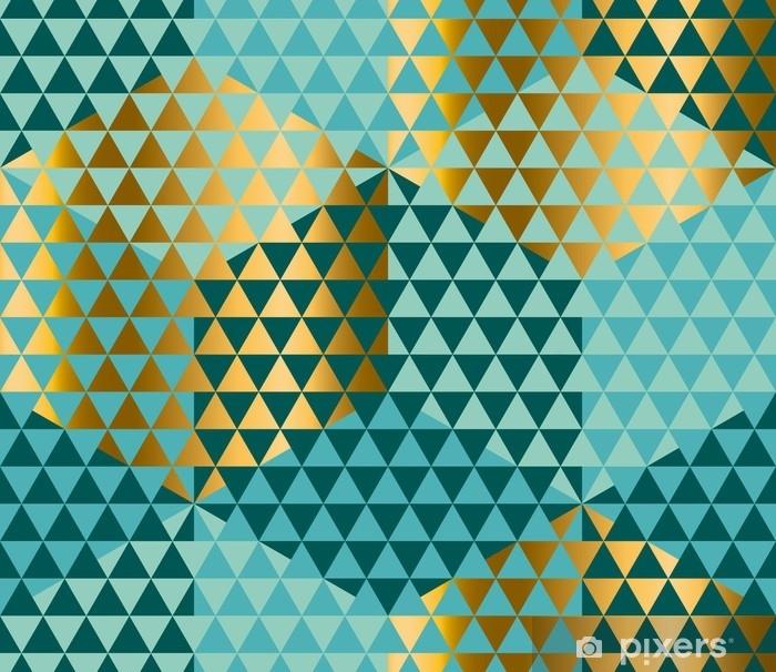 Poster Motif de géométrie dans le style de peau de lézard ou de serpent. illustration vectorielle de modèle sans couture verte. fond de mosaïque complexe abstrait triangle pour le tissu, papier d'emballage, toile de fond - Ressources graphiques