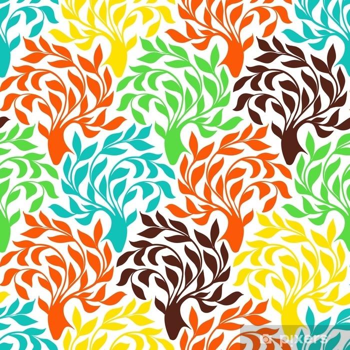 Plakat Wzór z drzewami - Zasoby graficzne