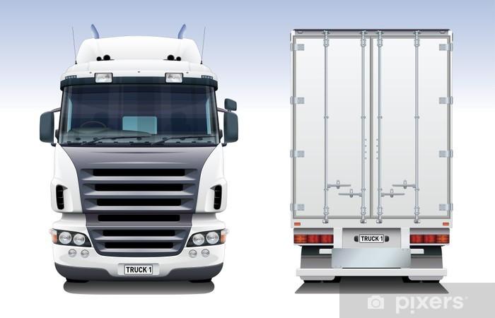 Fototapeta winylowa Semi Truck Trailer - Transport drogowy