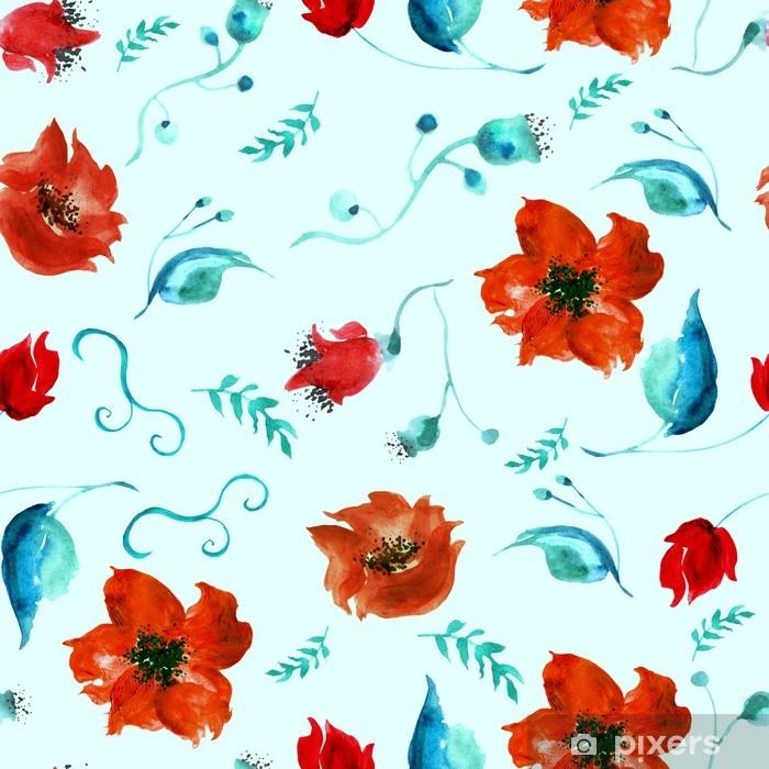 Nalepka Pixerstick Akvarel Bezesve Rocnik Vzor Kresby Z Cerveneho