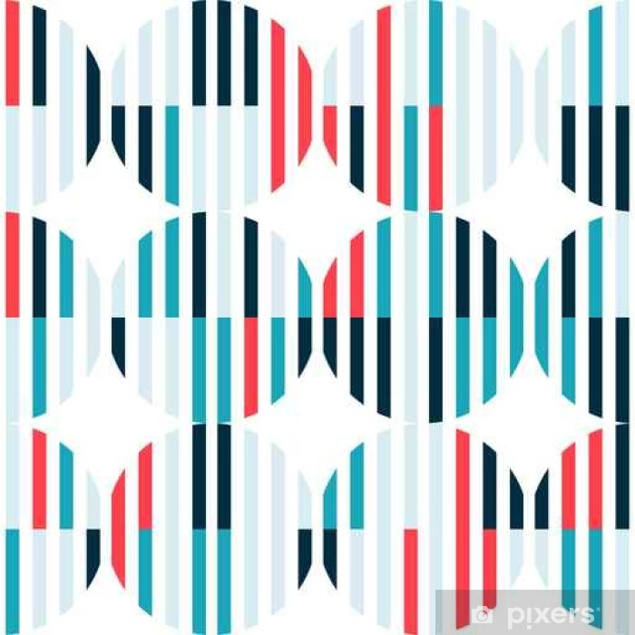Abstract seamless pattern with colorful figures on white background. Pixerstick Sticker - Graphic Resources