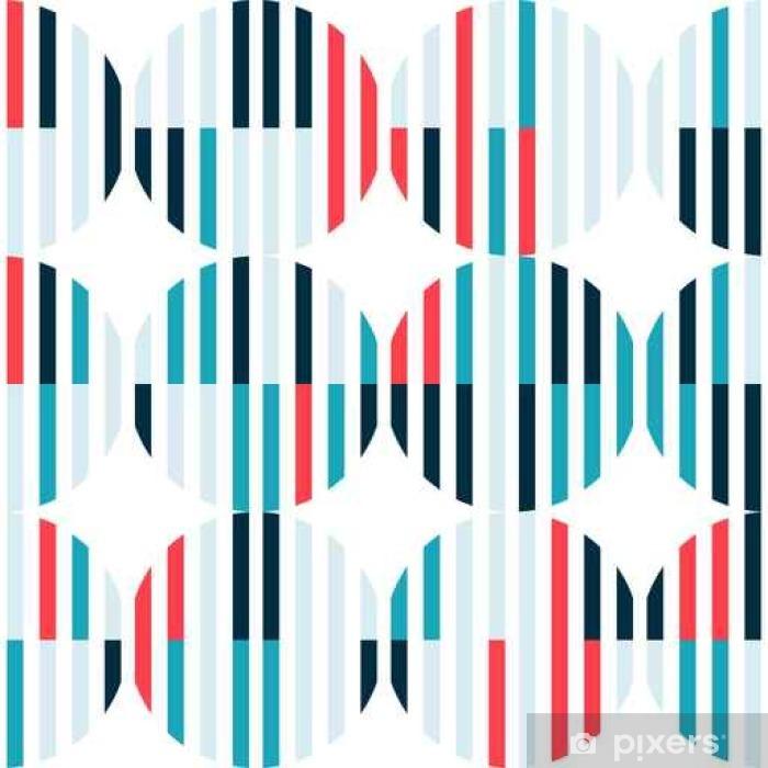 Türaufkleber Abstrakte nahtlose Muster mit bunten Figuren auf weißen Hintergrund. - Grafische Elemente