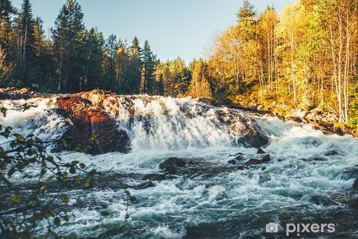 Fotomural Estándar Cascada de otoño - Paisajes