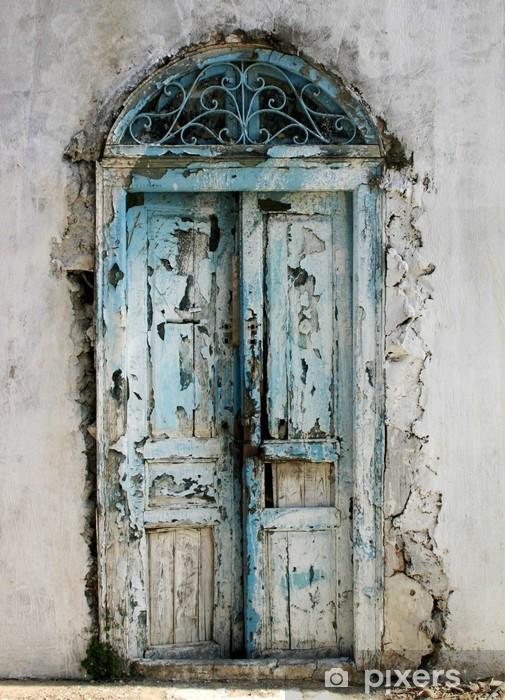 Sticker Pixerstick Vieille porte tunisienne - Maisons et jardins
