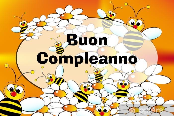 Sticker Carte De Joyeux Anniversaire Italien Pixers Nous