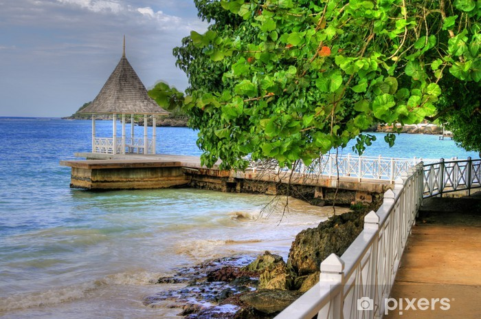 Fototapeta winylowa Pier / Beach w Montego Bay, Jamajka, Karaiby - Tematy