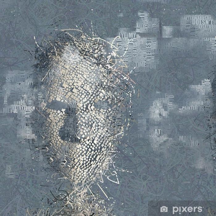 Pixerstick Sticker Verschijningsbeeld dat voor een deel van woorden, tekst wordt samengesteld - Gevoelens, Emoties en Staten van Geest