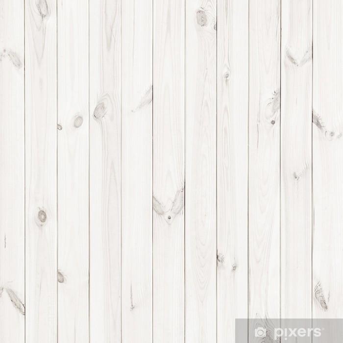 White Wood Texture Background Wooden Table Top View Sticker Pixerstick