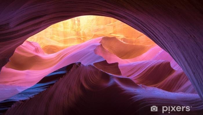 Vinyl Fotobehang Antilope canyon natuurlijke rotsformatie - Landschappen