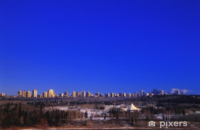 Edmonton Skyline Wall Mural Vinyl