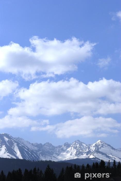 Sticker Pixerstick Tatras au printemps - Thèmes
