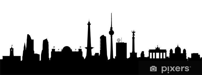 berlin skyline vektor wall mural pixers we live to change