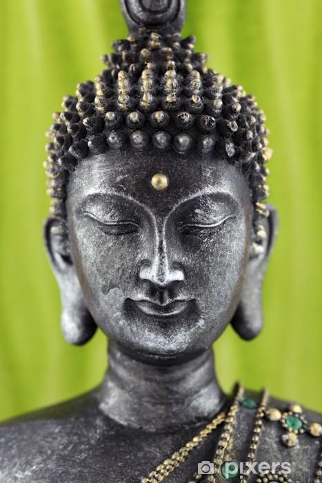 Papier peint vinyle Bouddha statue de bronze zen - Thèmes