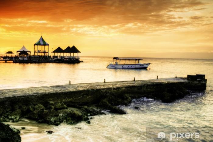 Pixerstick Sticker Caribbean sunset - Thema's