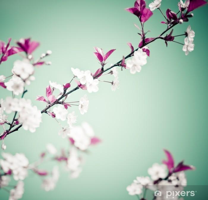 Pixerstick Sticker Voorjaar bloemen achtergrond - Thema's