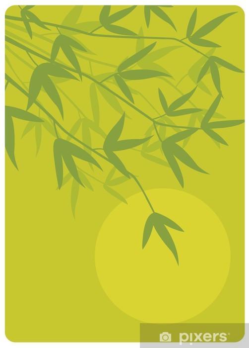 Papier peint vinyle Zen bambou - Religion