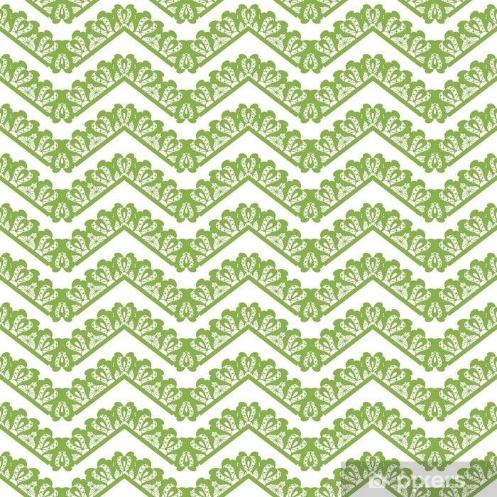 Fototapeta winylowa Ilustracja tło wektor wzór zielony szewron. kolor wiosenny 2017, projekt papieru do pakowania - Zasoby graficzne