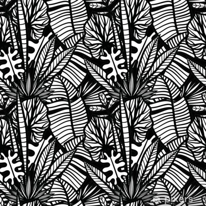 Handgezeichnete Tropische Pflanzen Muster