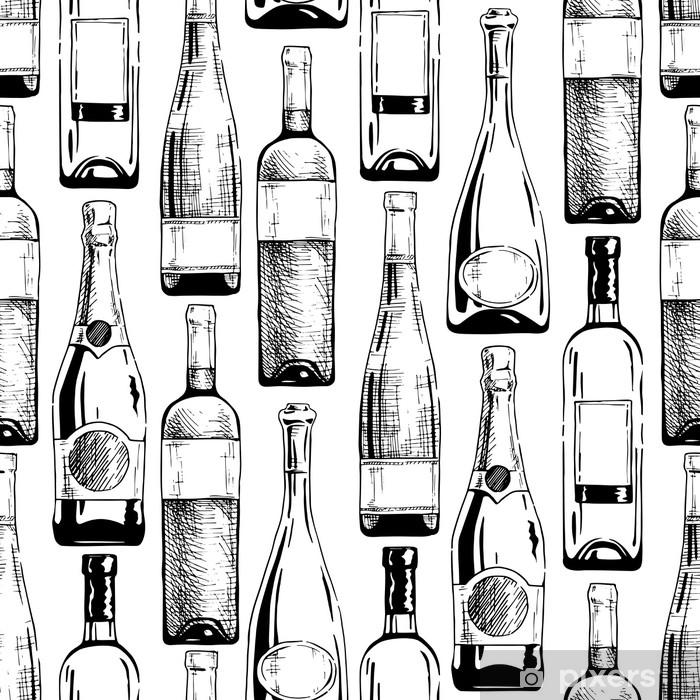 Carta Da Parati Bottiglie.Carta Da Parati Modello Con Bottiglie Di Vino E Champagne Pixers Viviamo Per Il Cambiamento