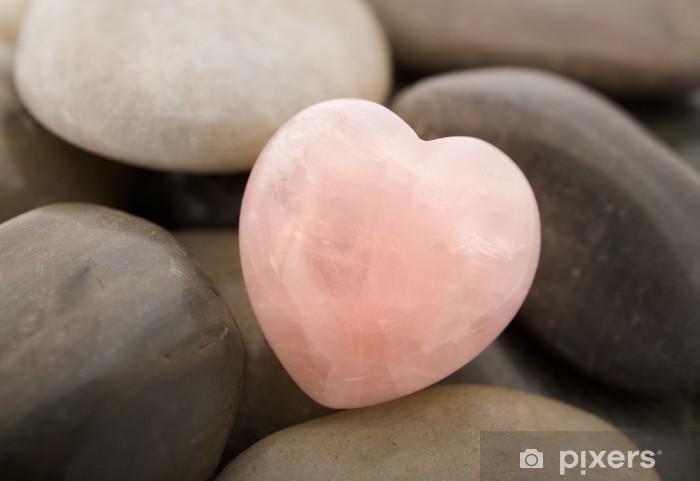 Naklejka Pixerstick Serce Rose Quartz - Kamienie