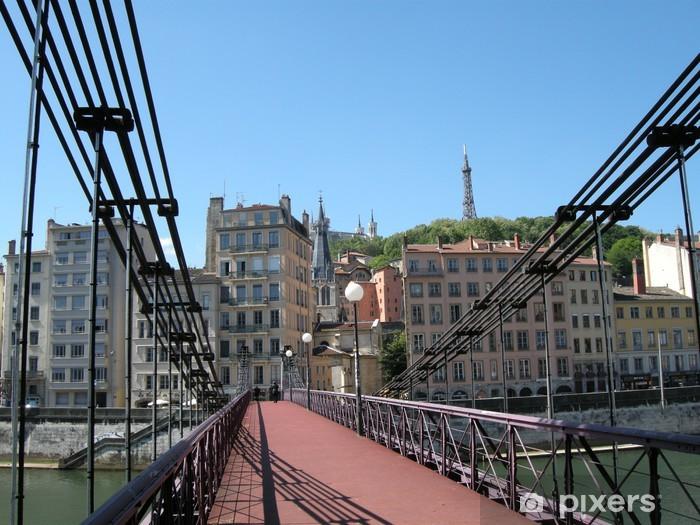 Papier peint vinyle Passerelle Saint-Vincent-et quartier St Paul, Lyon, France - Europe