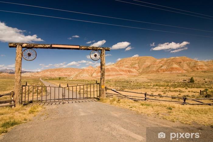 Naklejka Pixerstick Bramy i ogrodzenia w pustynię, dziki zachód - Ameryka