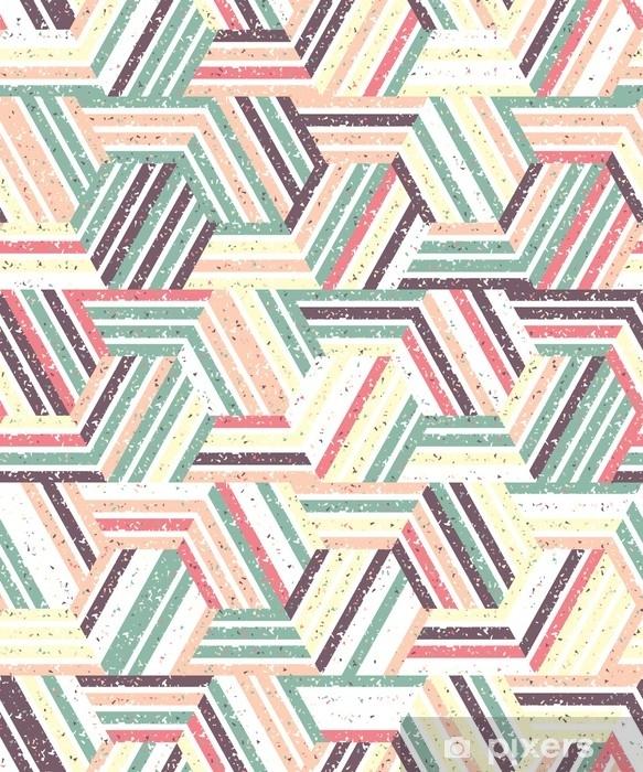 Naklejka na szybę i okno Abstrakcyjny wzór bez szwu z wielu trójkątów i pasków. teksturowane tło. - Zasoby graficzne