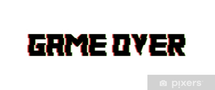 Game Over Glitch Design Vector Wall Mural Vinyl