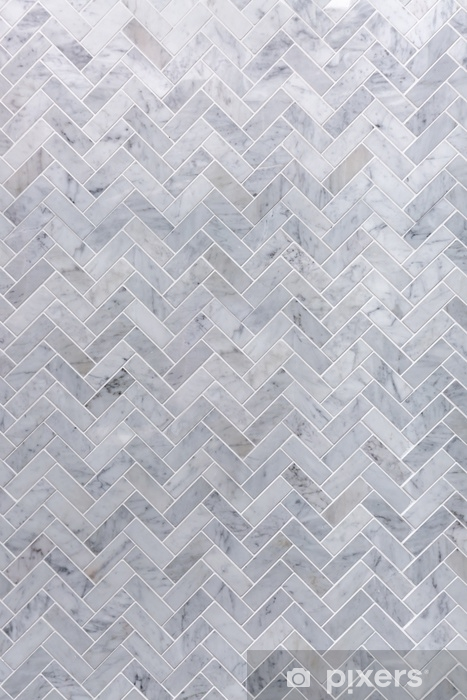 background of grey and white marble tile in herringbone pattern sticker pixers we live to change