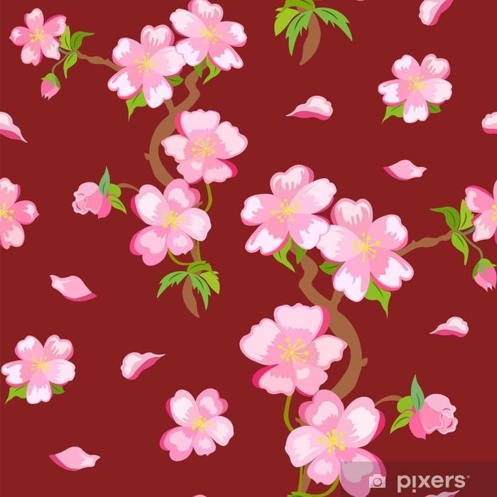 Gerahmter Druck Blumen Kunst Bild Plakat Garten Japanisch Pink Kirschblüten