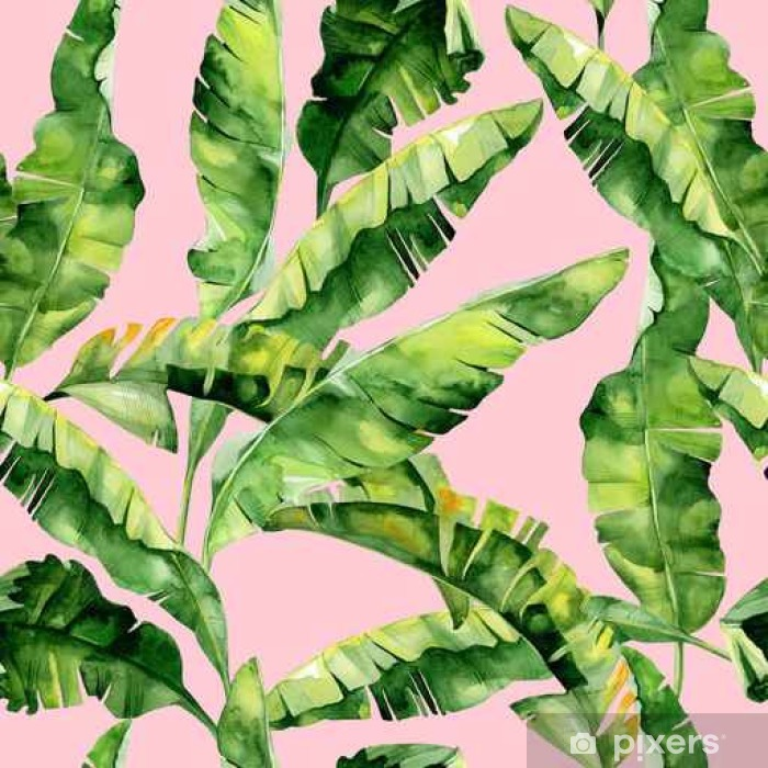 Seamless Watercolor Illustration Of Tropical Leaves Dense Jungle Pattern With Tropic Summertime Motif May Be Used As Background Texture Wrapping Paper Textile Wallpaper Design Banana Palm Leaves Wall Mural Pixers We Download the perfect tropical leaves pictures. https pixers us wall murals seamless watercolor illustration of tropical leaves dense jungle pattern with tropic summertime motif may be used as background texture wrapping paper textile wallpaper design banana palm leaves 142236150