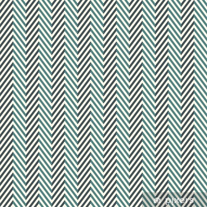 Sildben abstrakt baggrund. blå farver sømløse mønster med chevron diagonale linjer. Vinyl fototapet - Grafiske Ressourcer