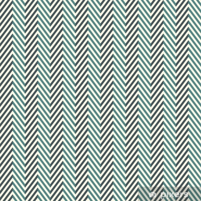 Mural de Parede em Vinil Fundo abstrato de Sheringbone. Padrão sem costura de cores azuis com linhas diagonais de chevron. - Recursos Gráficos