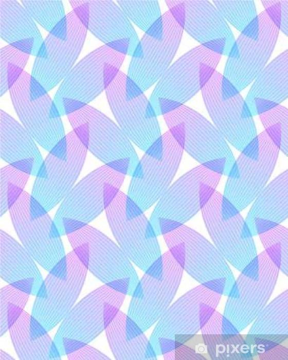 Fototapeta winylowa Streszczenie różowe i niebieskie tło, geometryczne kształty z wielu cienkich linii. Jednolite wektor wzorca. Płatki lotosu wzór. ilustracji wektorowych. - Zasoby graficzne