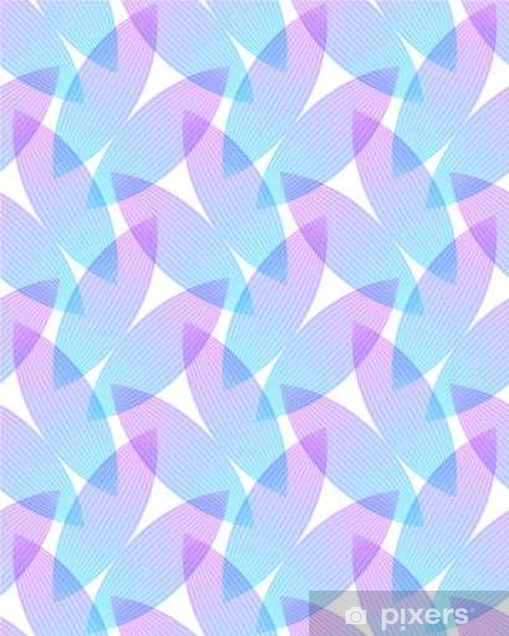 Naklejka Pixerstick Streszczenie różowe i niebieskie tło, geometryczne kształty z wielu cienkich linii. Jednolite wektor wzorca. Płatki lotosu wzór. ilustracji wektorowych. - Zasoby graficzne