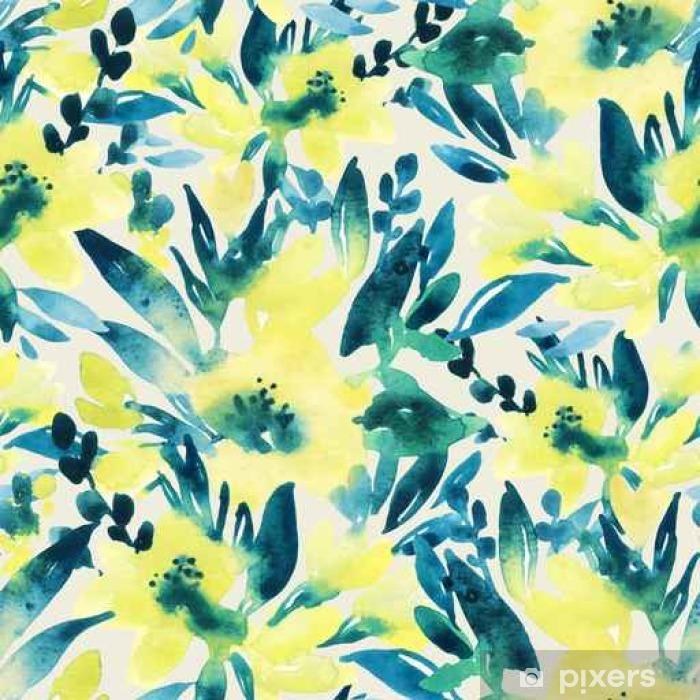 Plakát Ručně malované akvarel květiny - Rostliny a květiny