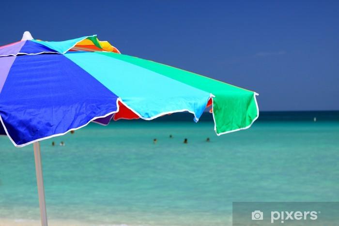 Papier peint vinyle Parapluie - Vacances
