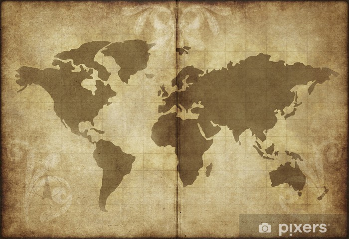 Old World Map Mural.Old World Map Parchment Paper Wall Mural Pixers We Live To Change