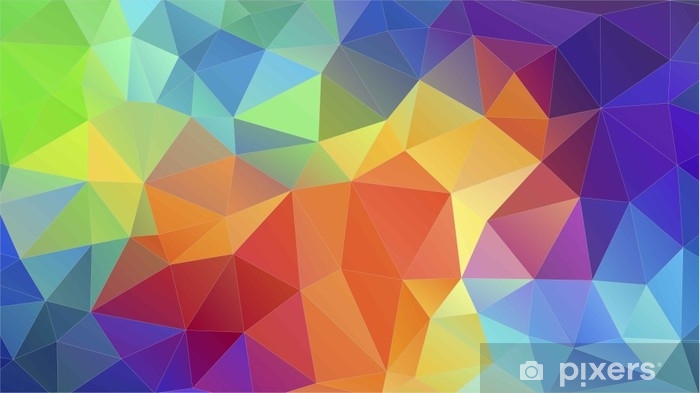 Flat Triangle Multicolor Geometric Triangle Wallpaper Wall Mural Vinyl