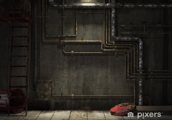 Fototapeta winylowa Grunge industrial pipe wall - Style