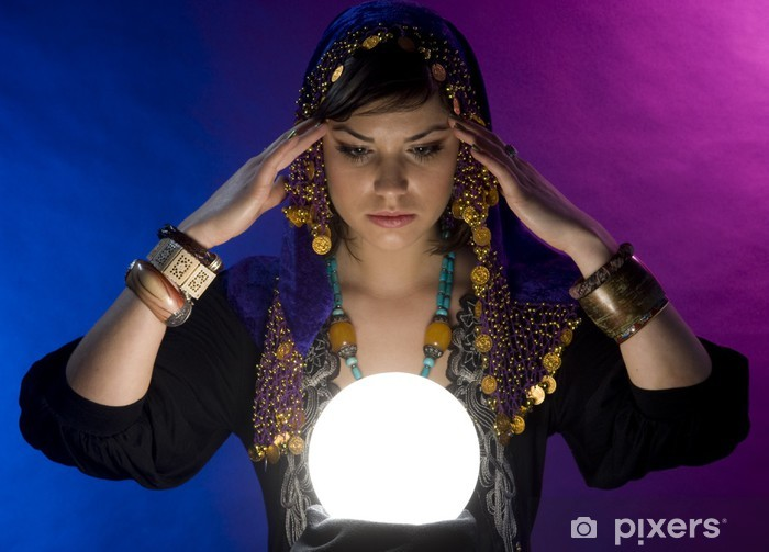Fortune-teller with Crystal Ball Pixerstick Sticker - Other Feelings