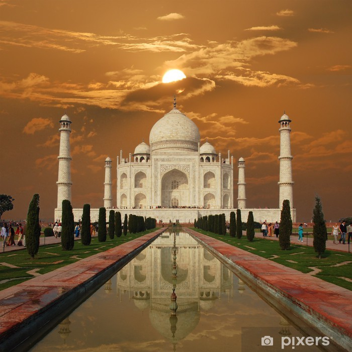 Sticker Pixerstick Taj Mahal Sunset (Inde) - Asie